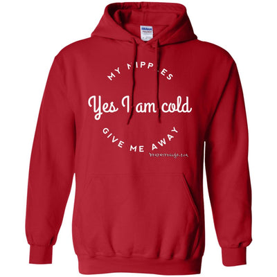 Yes I Am Cold My Nipples Gave Me Away Hoodies