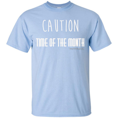 Caution Time Of The Month Dark T-shirts
