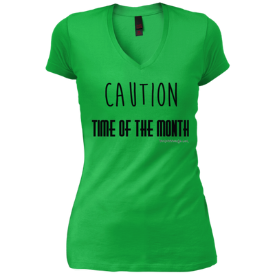 Caution Time Month V-Neck T-Shirt