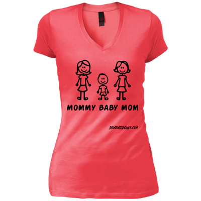 Mommy Boy M V-Neck T-Shirt