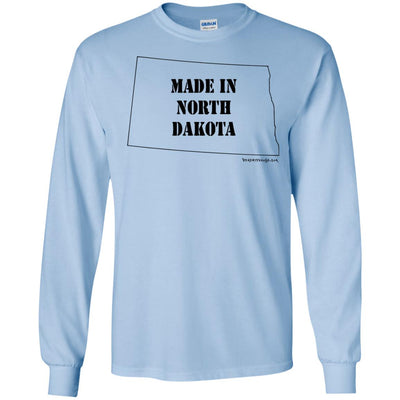 Made In North Dakota Long Sleeve Light T-Shirts