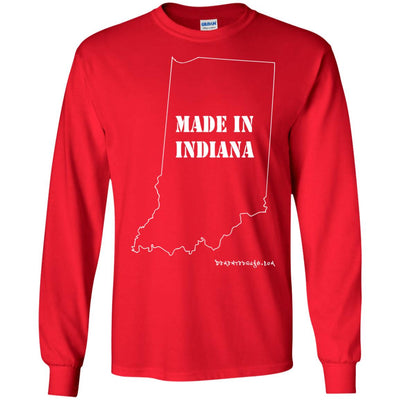 Made In Indiana Long Sleeve Dark T-shirts