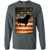 Vintage Flag with Bull Long Sleeve T-Shirt