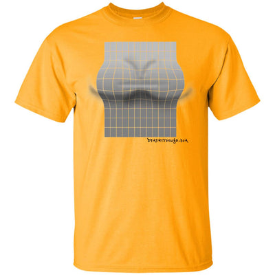 3D grey rectangle optical illusion Light T-shirts