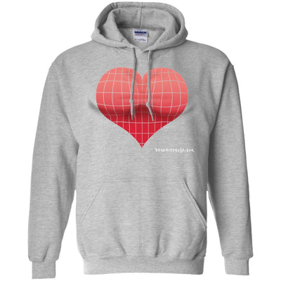 3D Red Heart Optical Illusion Hoodies