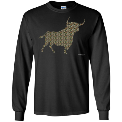 Camo Bull Long Sleeve T-Shirt