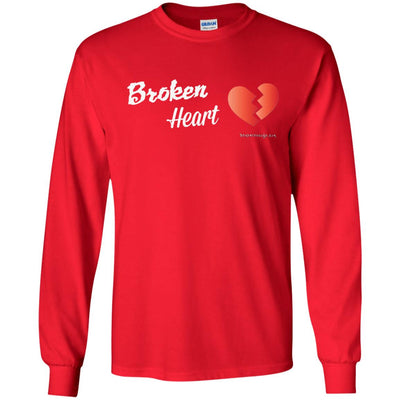 Broken Heart Long Sleeve Dark T-shirts