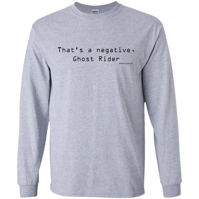 That's A Negative Ghost Rider Long Sleeve Light T-Shirts