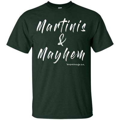 Martinis and Mayhem Dark T-shirts