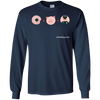 Donut Plus PIg Equals Policeman Long Sleeve T-Shirt