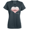 Pink Heart 3D Optical Illusion V-neck T-Shirt