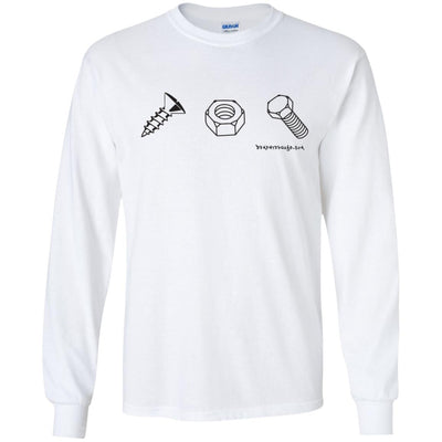 Screw Nut Bolt Long Sleeve Light T-Shirts