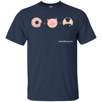Donut Plus Pig Equals Policeman Short Sleeve T-shirt