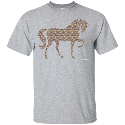 Camo Horse Short Sleeve T-shirt