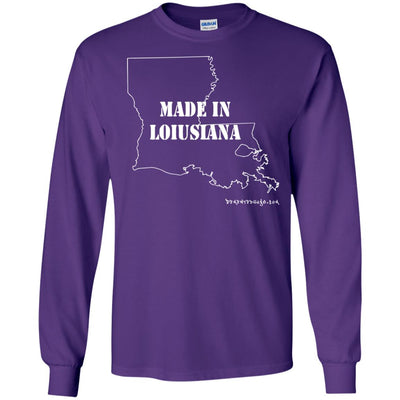 Made In Louisiana Long Sleeve Dark T-shirts