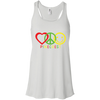 PINECREST LOVE PEACE HAPPINESS Flowy Racerback Tank