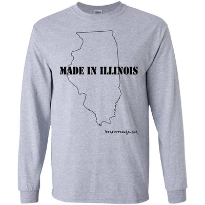 Made In Illinois Long Sleeve Light T-Shirts