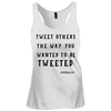 TWEET OTHERS TWEETEDL Racerback Tank Top