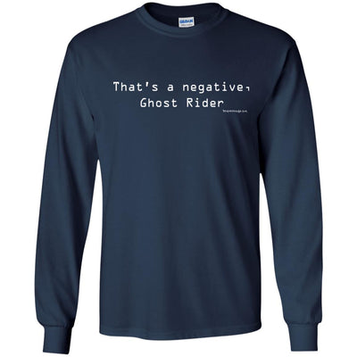 That's A Negative Ghost Rider  Long Sleeve Dark T-shirts