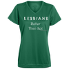 Lesbians Better Than Sex V-neck T-Shirt