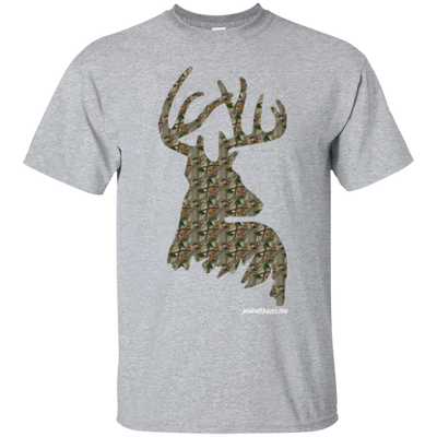 Deer Camo Head and Shoulders Short Sleeve T-shirt