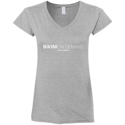 Bikini on Demand Ladies' Deep V-Neck T-Shirt