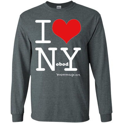 I Love Nobody Long Sleeve Dark T-shirts