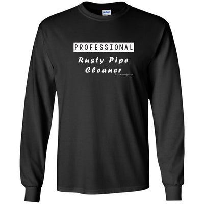 Professional Rusty Pipe Cleaner Long Sleeve Dark T-shirts