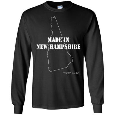 Made In New Hampshire Long Sleeve Dark T-shirts