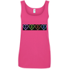 Neon Love Hearts Ringspun Cotton Tank Top