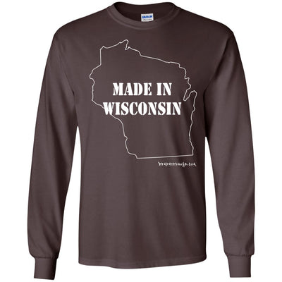 Made In Wisconsin Long Sleeve Dark T-shirts