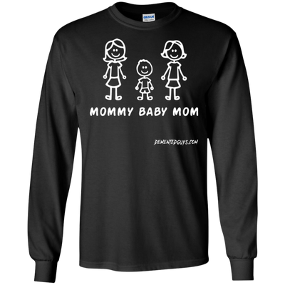 Mommy Baby Boy Mom Long Sleeve T-Shirt