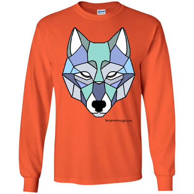 Wolf Face Long Sleeve Light T-shirts