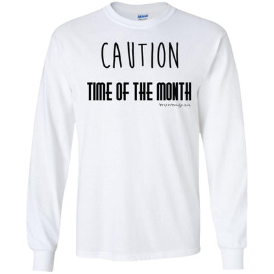 Caution Time Month Long Sleeve Light T-shirts