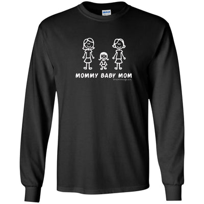 Mommy Baby Girl Mom Long Sleeve Dark T-shirts