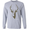 Camo Deer Head Long Sleeve T-Shirt