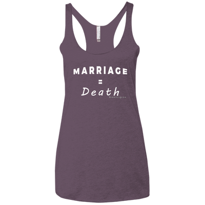 Marriage Death Racerback Tank T-shirts