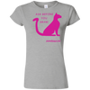 Ask Before You Grab Softstyle Ladies' T-Shirt