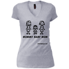Mommy Girl Baby Mom V-Neck T-Shirt