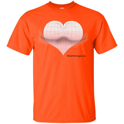 3D Pink Heart Optical Illusion Light T-shirts
