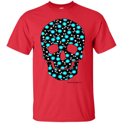 Black Flower Skull T-shirt