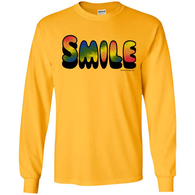 Tie Dye Smile Long Sleeve Light T-shirts