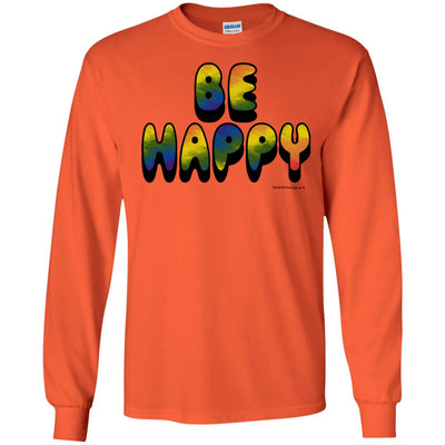 Tie Dye Be Happy Long Sleeve Light T-shirts