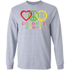 Peace Love Happiness Coconut Grove Long Sleeve T-Shirt
