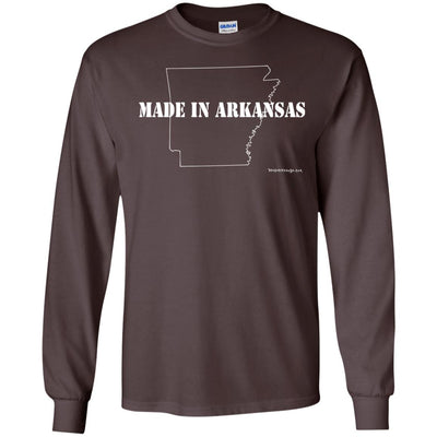 Made In Arkansas Long Sleeve Dark T-shirts