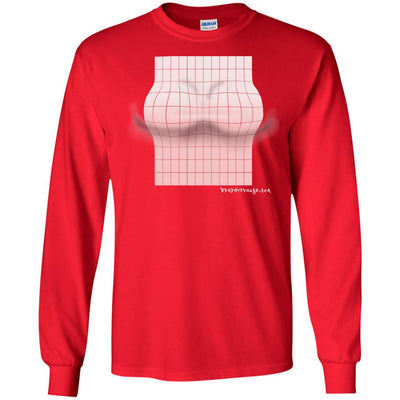3D Pink Rectangle Optical Illusion Long Sleeve Dark T-shirts
