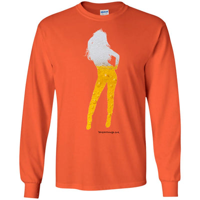 Beer Girl Long Sleeve Light T-Shirts