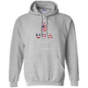 Middle Finger USA Flag Print Hoodie