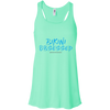 bikini on demand blue logo  Flowy Racerback Tank