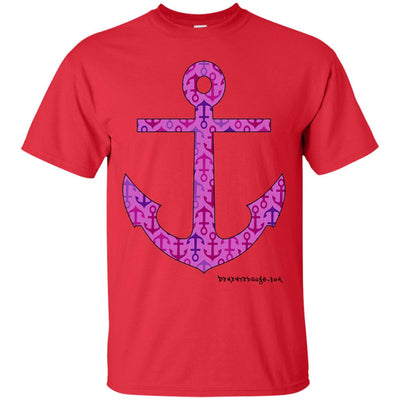 Anchor Print Purple Dark T-shirts